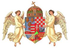 Empire of Austria-Hungary, medium coat of arms of the Hungarian Countries, Hugo Gerhard Ströhl. Kingdom Of Naples, Austria, Holy Roman Empire, Hungarian Embroidery, My Family History, Kaiser, Historical Maps, Crests, Knight
