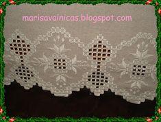 Labores artesanas de vainicas bordadas, deshilados, puntos contados, hardanger, filtiré, calados canarios realizados a mano Marisa Monitora en Gijón