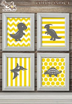 Dinosaur Art for Baby Nurseries! Custom Colors for No Additional Charge! Starting at $19.95