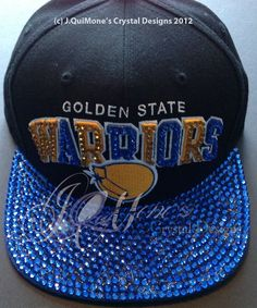 size 40 ff94c ef4dd Adult Blinged Out Golden State Warriors Hat Warrior Fashion, Warrior 1,  Basketball Outfits,