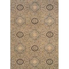 Hayworth Grey/Brown Transitional Area Rug (5'3 x 7'6) $306