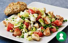 Salat med kylling, spidskål og vandmelon 470x300
