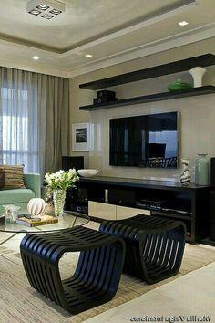 Tv Wall Design, Ceiling Design, House Design, Interior Work, Interior Design Business, Living Room Designs, Living Room Decor, Home Wall Painting, Plafond Design