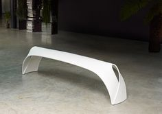 LONDON DESIGN FESTIVAL 2014 - The beautiful new Pleat Bench by Made in Ratio is molded from a single piece of Corian