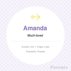 Baby Name: Amanda