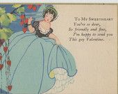 Antique Valentine Post Card To My Sweetheart