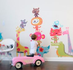 Pop + Lolli wall decals. So bright and fun!