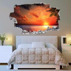 Beach Decals | Beach Wall Stickers | Vinyl 3d | CAB.105