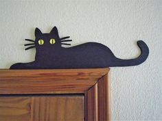 Black Cat Door Topper shelf picture frame wall art 3 mm plywood decor black gift cat lover birthday gift wedding Christmas cute cats black by BelfieldTreasures on Etsy Cat Decor, Wall Art Decor, Frames On Wall, Framed Wall Art, Black Cat Art, Wood Cat, Painted Boards, Cat Wall, Poses