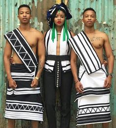 Black Women Fashion, Womens Fashion, Xhosa, Sari, African, Traditional, Black And White, Tops, Style