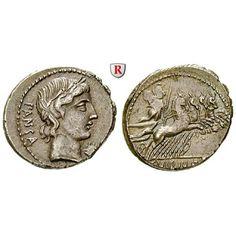 Römische Republik, C. Vibius, Denar 90 v.Chr., f.vz: C. Vibius 90 v.Chr. Denar 19,5 mm 90 v.Chr. Rom. Kopf des Apollo r. mit… #coins