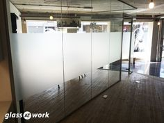 From Glass At Work: Acoustic Single Glazed Glass Office Partitioning Glass Office Partitions, Glass Partition, Marketing Office, Glazed Glass, Window Film, Glass Panels, Acoustic, Minimalism, Glass Doors