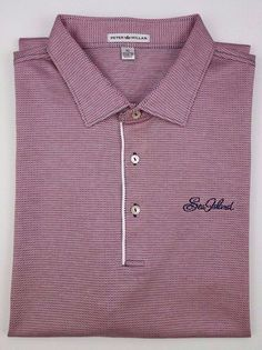 a307616a1cff Peter Millar Polo Shirt XL Mens Multicolor Red White Checked Golf Size Sz  Cotton  PeterMillar