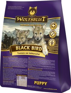 Das hochwertige Hundefutter Wolfsblut Black Bird gibt es nicht nur für ausgewachsene Hunde, sondern auch für Welpen. Das getreidefreie Welpenfutter besteht aus Truthahn und wird durch hochwertige Pflanzen ergänzt. #wolfsblut #healthfood24