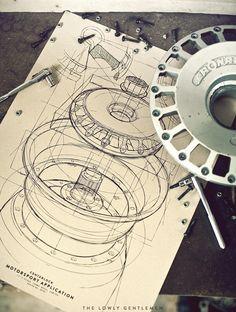 "stanceworks: ""Centerlock Motorsport Application Wheel Art Print - Lowly Gentlemen """