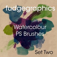Photoshop watercolor brush strokes