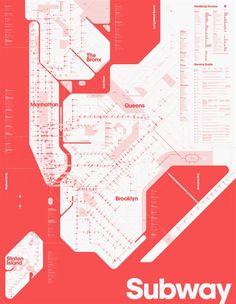 NY Subway Map by David Heasty of Triboro Design Nyc Subway Map, New York Subway, Plakat Design, U Bahn, Information Design, Map Design, Print Design, Design Graphique, Grafik Design
