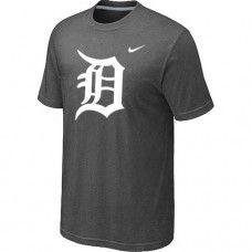 Wholesale Men Detroit Tigers Heathered Blended Short Sleeve Dark Grey T-Shirt_Detroit Tigers T-Shirt