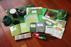 Social Studies - Seven Continents.  Make a bag for each with information from countries and cities within!!!  Books, recipes, toy animals, flags, etc.