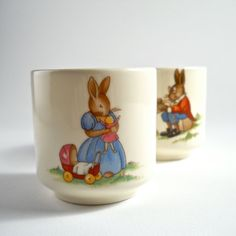 Royal Doulton Bunnykins Pair Of Egg Cups