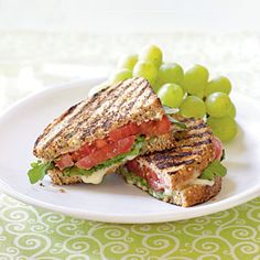 Grilled Tomato and Brie Sandwiches | CookingLight.com #myplate #vegetables #dairy
