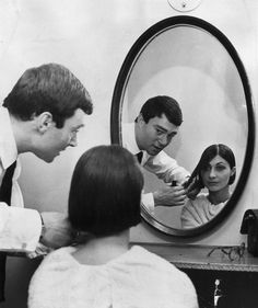 Including Mia Farrow, Mary Quant, Grace Coddington, and more. Mia Farrow, Mary Quant, Vintage Hairstyles, Up Hairstyles, Fresh Hair, Cut And Style, Hairdresser, Hair Inspiration, Beauty Hacks