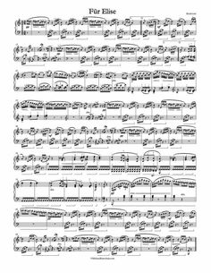 1 Page Version of Beethoven's Fur Elise. Free Sheet Music. Fur Elise Sheet Music, Music Sheet Paper, Violin Sheet Music, Piano Music, Piano Songs, Music Theory Piano, Piano Sheet Music Classical, Free Piano Sheets, Music Sheets