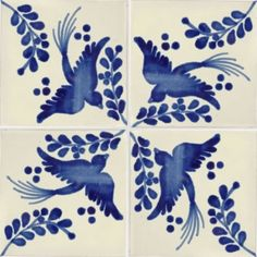 Mexican dove tiles. Love this design with the blue color. Perfect for our blue bathroom!