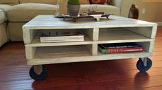 Hand Made One-Of-A-Kind Wood Pallet Style Coffee by RedouxChic