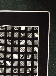 Black and white baby crib quilt for sale by SSQuilting on Etsy! Super cute and complex bowtie design! #quilt #forsale #etsy #blackandwhite #black #white #bowtie #quiltdesign #quilting #oneyoungquilter #xoxo #animalprints #polkadots #genderneutral #boy #girl #baby #babyshower #babyquilt #crib #cribquilt #homemade #handmade