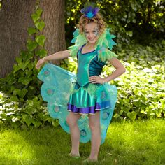 Peacock Girl Child Costume | BuyCostumes.com