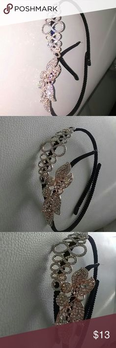 New 2 headvands rhinestones New 2 headbands with rhinastones accent  These will stay in your hair Accessories Hair Accessories