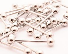 Lot of 25 316L Surgical Stainless Steel Barbells wholesale bulk CHOOSE SIZE