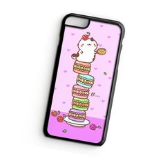 Cat On Stack Of Macarons iPhone 6s Plus Case   ^ Materials : Plastic, Rubber ^ Colors : Black, White, Transparent #iPhone #iPhone6sPlus #iPhoneCase #iPhone6sPlusCase #phoneCase #mobileCase #ariesand #ariesandCase