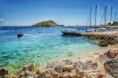St Nicholas Port on Zakynthos island.   Photography by Alistair Ford