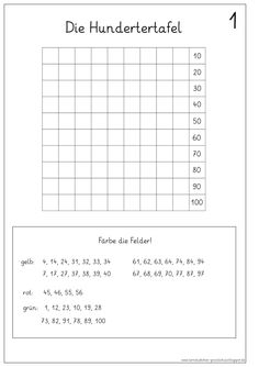 Lernstübchen: die Hundertertafel Math 2, 1st Grade Math, Kindergarten Math, Teaching Math, Valentines Day Crafts For Preschoolers, Welcome To School, Math For Kids, Math Lessons, Math Activities