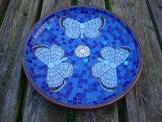 Mosaic in a wooden bowl  From fatpoppycat on facebook