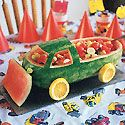 Watermelon Truck ~ Many Watermelon Recipes!! Make the most of melon season by having a little fun with fruit.  These watermelon carvings and watermelon baskets are not only great activities for parents and kids, but the watermelon recipes taste great, too!