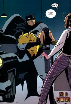 """""""Alfred... He's dying.""""  The night Dick almost got beaten to death by Two-Face."""