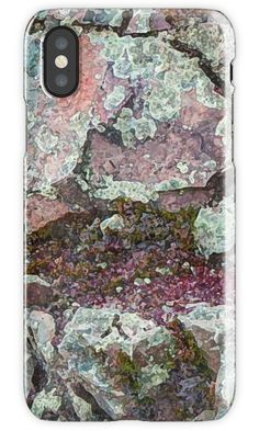 I'm Lichen Rocks Phone Cases by PolkaDotStudio, new, nature's texture of rocks, seen on a hike, original #digital #art on #tech #accessories as well as coordinating #fashion products; #pouches, #totes, #journals, #leggings, #T-shirts as well as #home decor. Have fun while being practical!