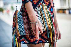 boho style fringe bag summer outfit
