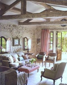 ❥ rustic...oh my goodness! This is my dream room for a summer cottage in a secluded area