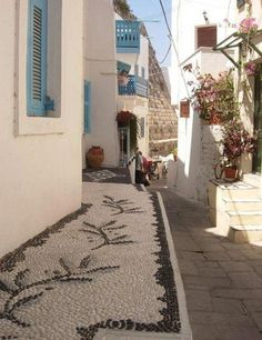 NISYROS ISLAND-TYPICAL STREET EMBROIDERY