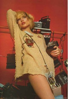 Blondie front-woman Debbie Harry made radios sound good and look good! A great portrait poster - Photo by Mick Rock.