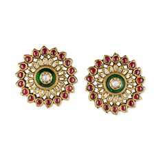 Ideas for jewerly desing trends beautiful Indian Jewelry Earrings, Jewelry Design Earrings, Gold Earrings Designs, Bridal Earrings, Jewelery, Rajputi Jewellery, Jewellery Sketches, Jewelry Model, Bridal Jewelry Sets