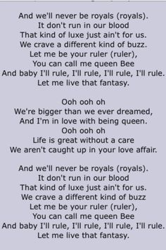 "Lorde. ""Royals"". Page 2"