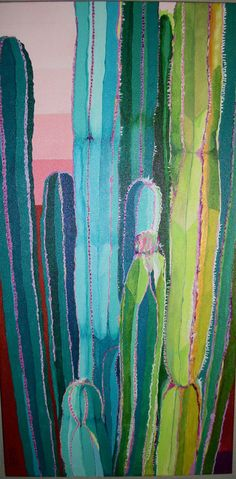 Hey, I found this really awesome Etsy listing at https://www.etsy.com/listing/242050337/turquoise-cactus-columns-is-an-original