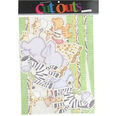 """This package of Safari Baby Shower Cut Outs is perfect for decorating doors, tabletops, windows and more.    The package includes:      one 12"""" x 9"""" Welcome Baby banner    one 12"""" x 9"""" Baby... A Little Miracle! Banner    one 8 1/4"""" x 5"""" A Little Miracle! banner    one 12"""" x 7 9/16"""" Marching Animals banner    two 3 13/16"""" x 7"""" Giraffe & Koala cut outs    two 4 5/14"""" x 3 3/14"""" Tiger Cub cut outs    two ..."""