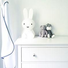 Miffy lamp in white nursery