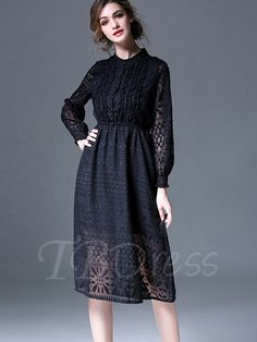 Tbdress.com offers high quality Black Hollow Single-Breasted Women's Maxi Dress Maxi Dresses unit price of $ 38.99.